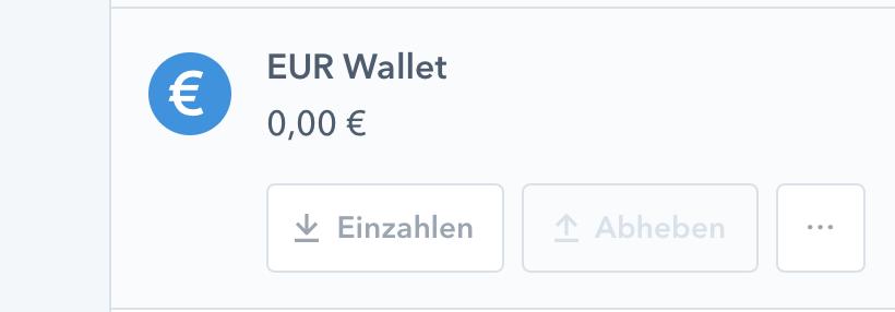 Coinbase Anmeldung - EUR Wallet