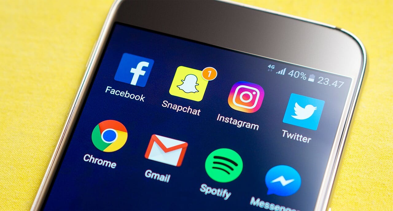 Soziale Anwendungen auf dem Smartphone