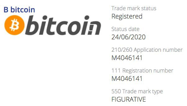 Bitcoin jetzt eingetragene Marke